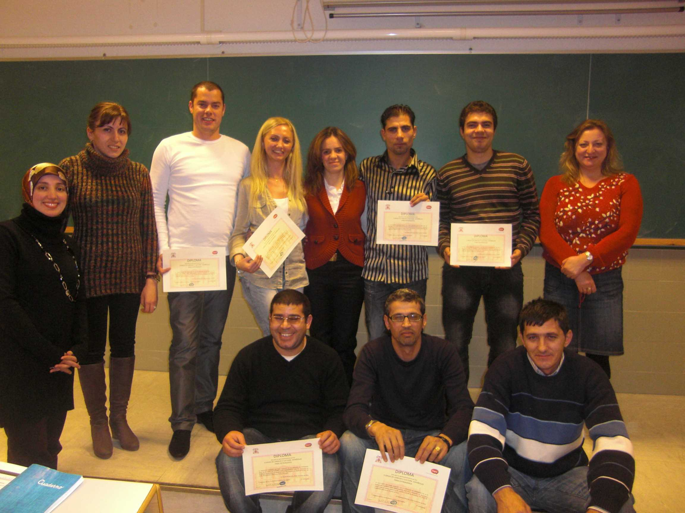Diplomas Spanish course for immigrants (Guadalajara)