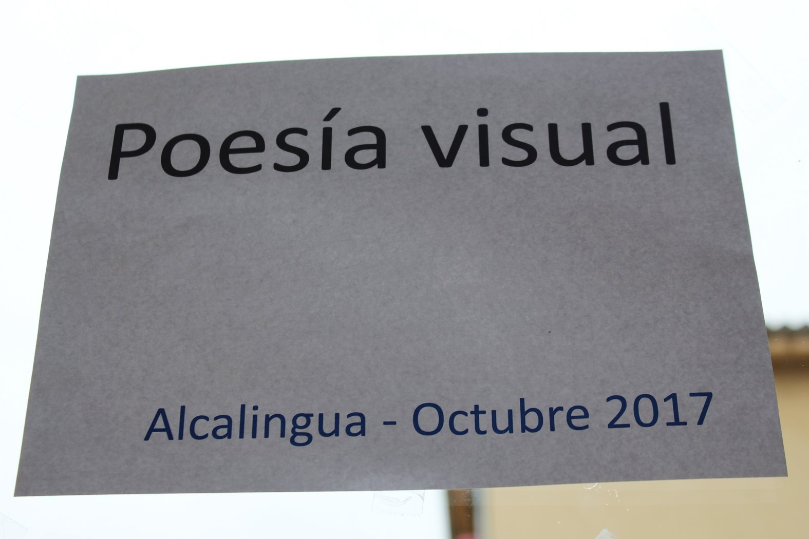 Visual poetry (Victoria del Valle. Pepe Ruiz)
